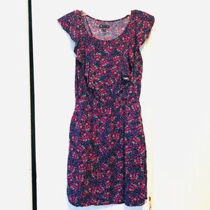 Floral Pink & Purple Gap Dress with Pockets!